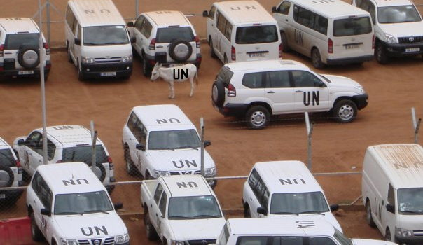 The Unmis carpark in Khartoum