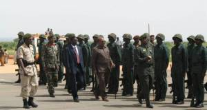 President Bashir arrives in El Geneina, West Darfur, on his mission of peace