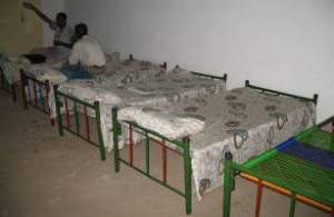 My bed in Nyala, South Darfur, before it started raining