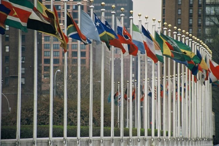 UN member flags - Aotearoa